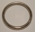 "38mm (1½"" ) Welded 'O' Rings Nickel Plated"